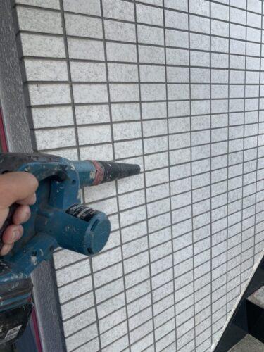 タイル外壁の下地処理の画像
