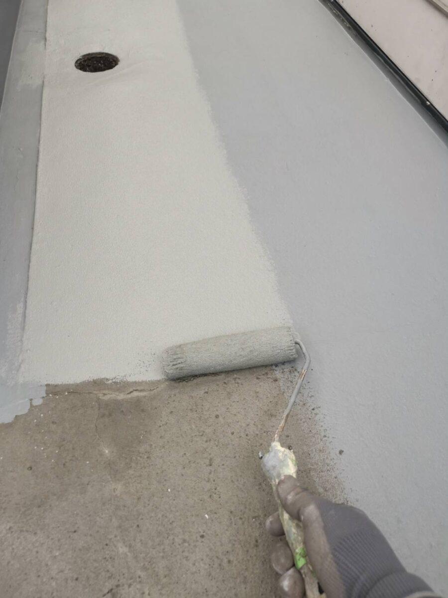 床の塗装の画像