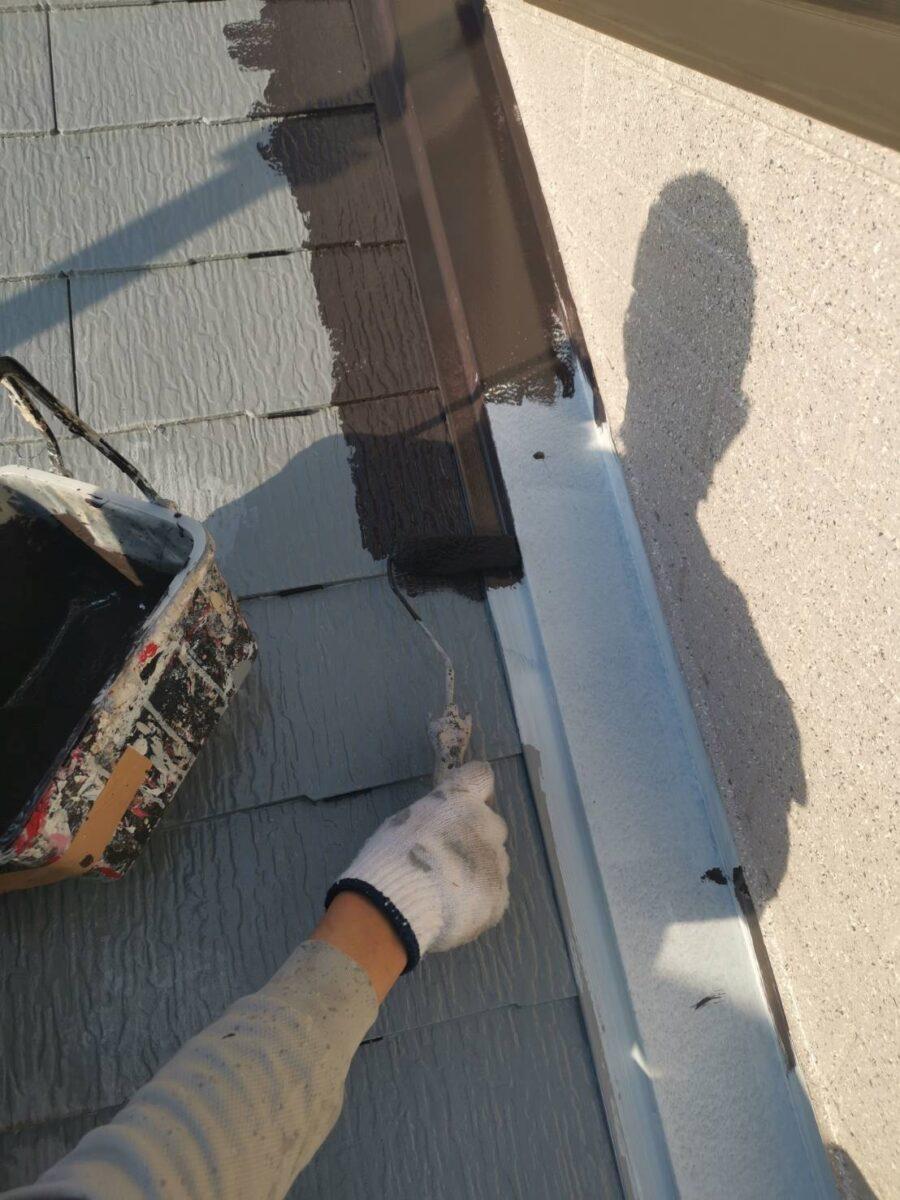 屋根板金の塗装の画像