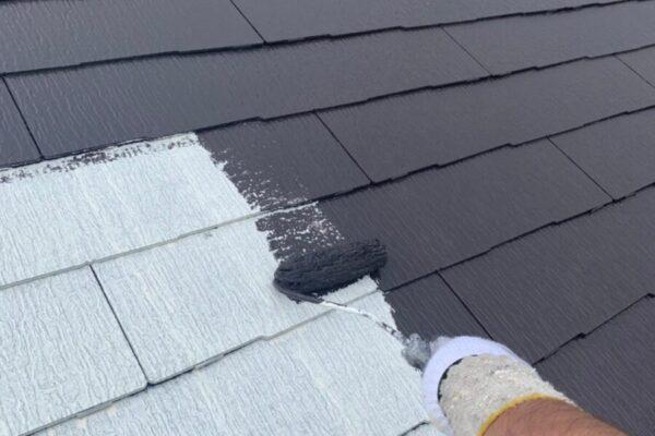 屋根の仕上げ塗装の画像