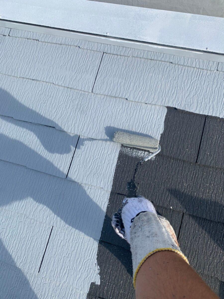 屋根下塗りの画像