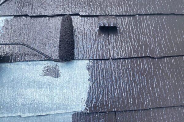屋根の塗装の画像