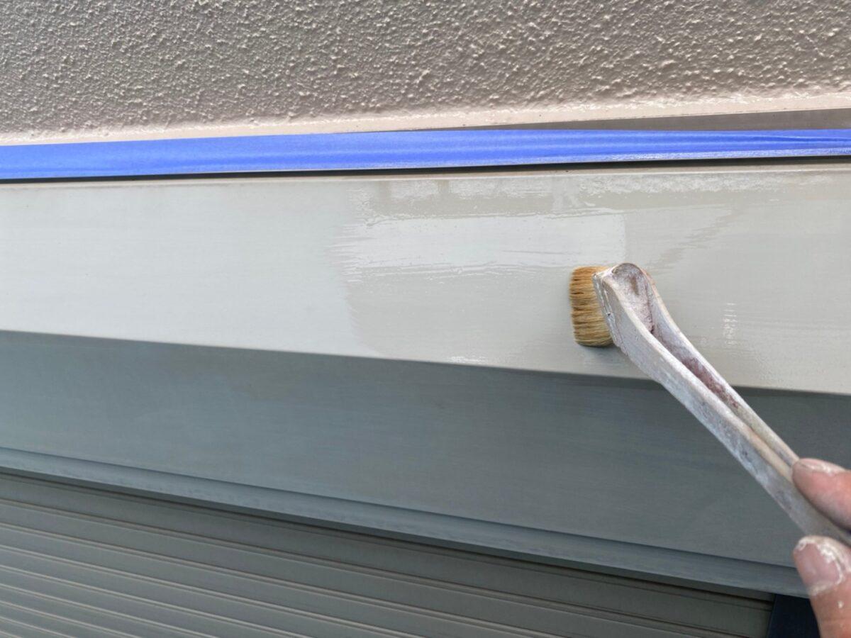 シャッターボックスの塗装の画像